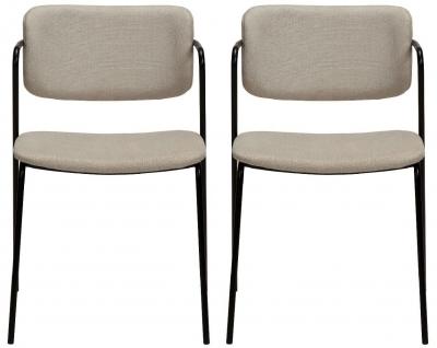 Dan Form Zed Desert Sand Fabric Dining Chair (Pair)