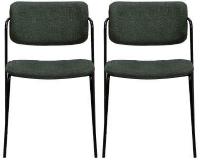 Dan Form Zed Sage Green Fabric Dining Chair (Pair)