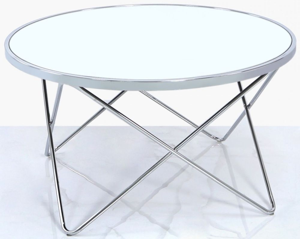 Aarhus Coffee Table - Mirror and Chrome