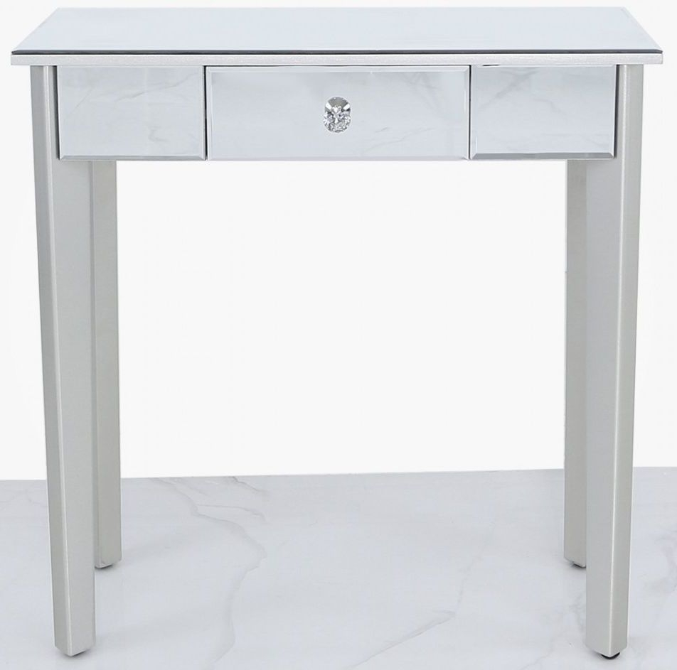 Allegan Console Table - Mirrored and Silver Painted thumbnail