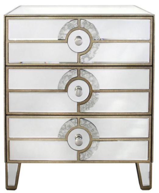 Angelo Mirrored Bedside Cabinet