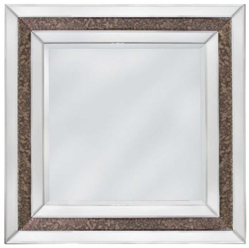Angelo Antique Square Wall Mirror - 90cm x 90cm