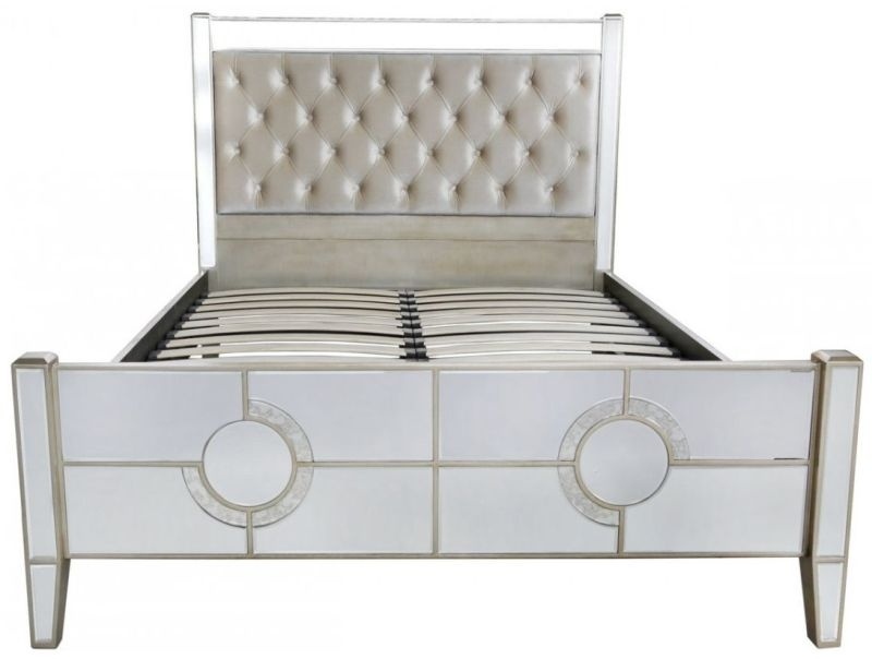 Angelo Mirrored King Size Bed Frame thumbnail