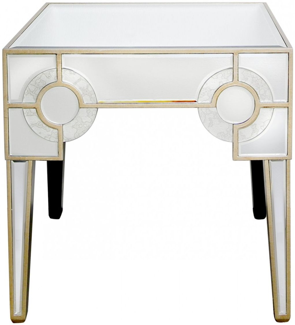 Angelo Mirrored End Table