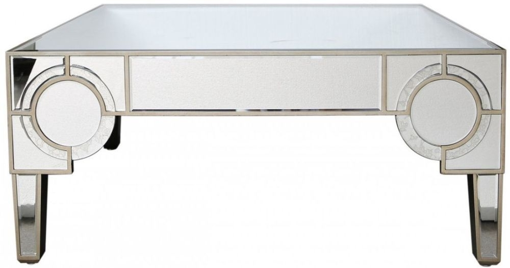 Angelo Mirrored 2 Drawer Coffee Table
