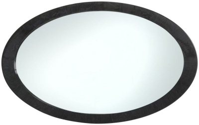 Anna Grey Walnut Oval Wall Mirror - 140cm x 85cm