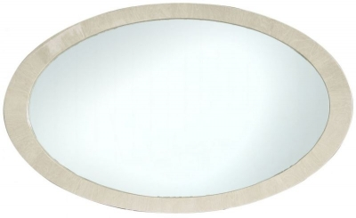 Anna Light Walnut Oval Wall Mirror - 140cm x 85cm