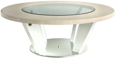 Anna Light Walnut Round Coffee Table