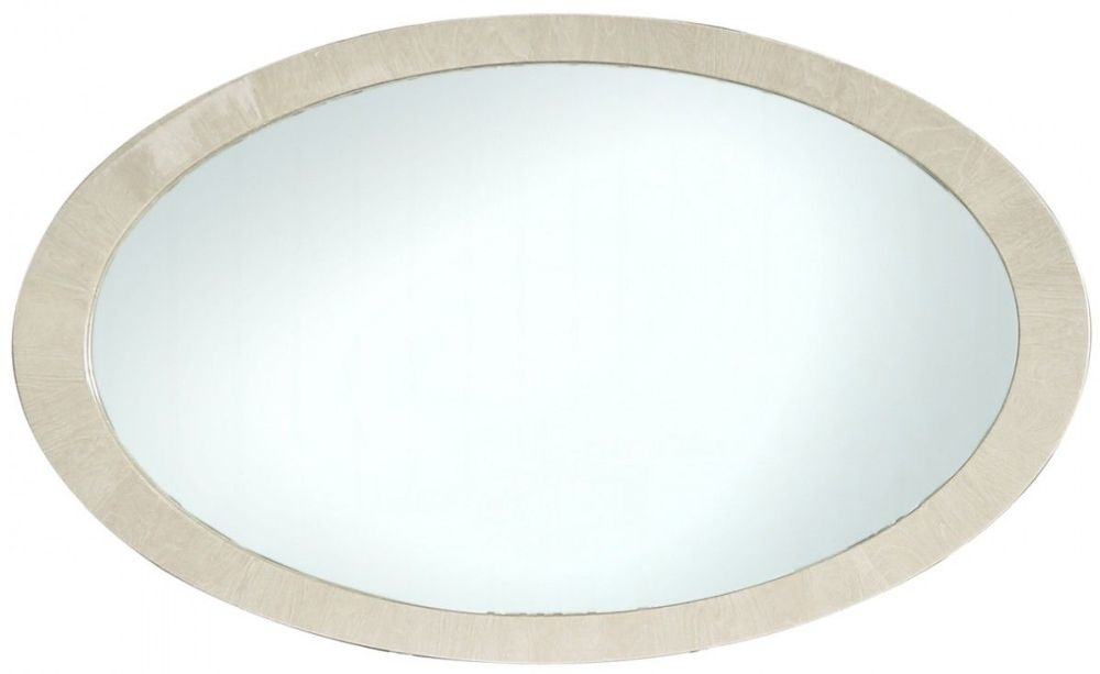 Anna Light Ivory Walnut Wall Mirror