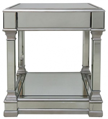 Antrim Silver Mirrored End Table