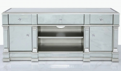 Antrim Silver Mirrored Medium TV Unit