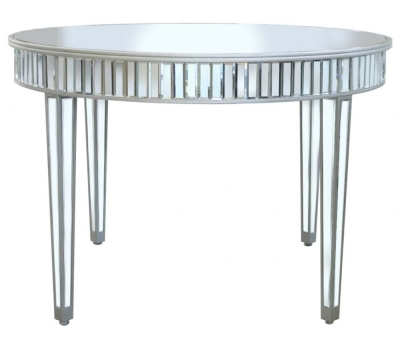 Antrim Silver Mirrored Round Dining Table