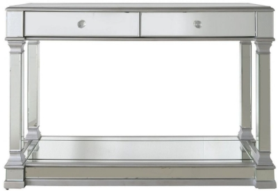 Antrim Silver Mirrored Console Table