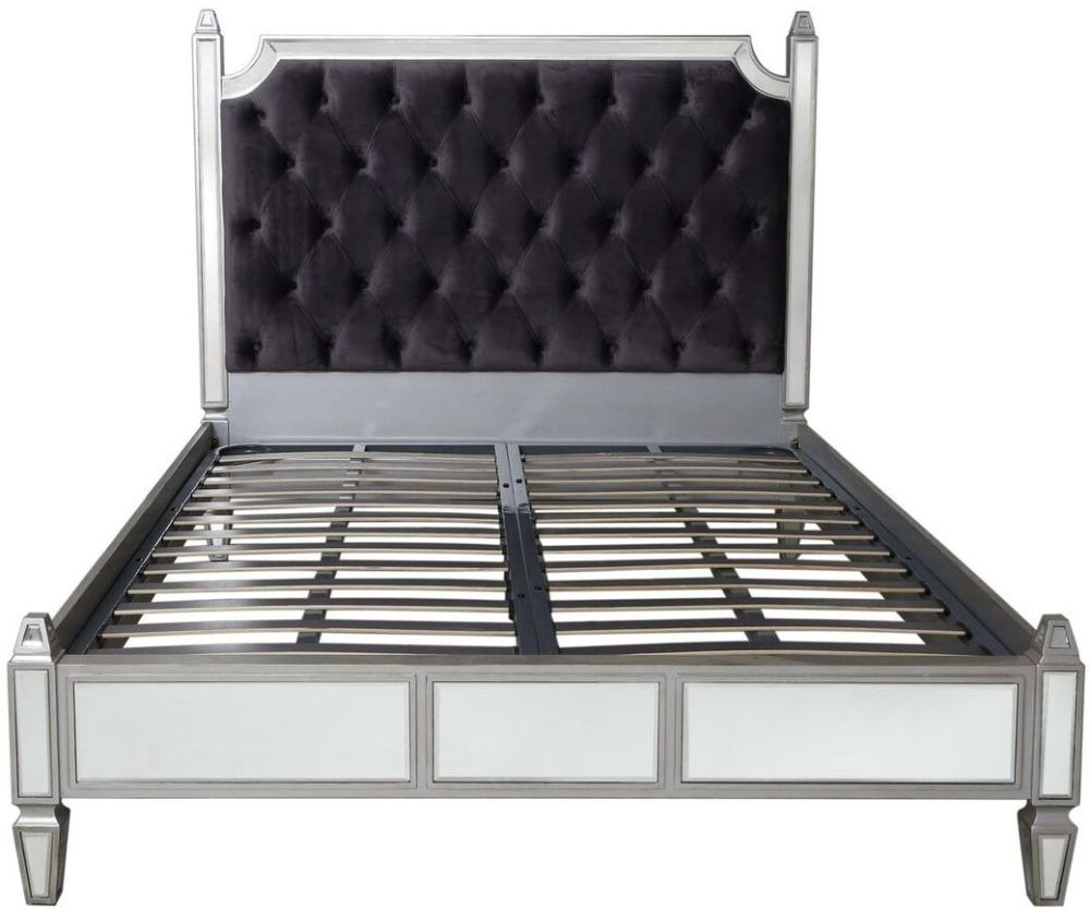 Antrim 5ft Bed - Silver Mirrored
