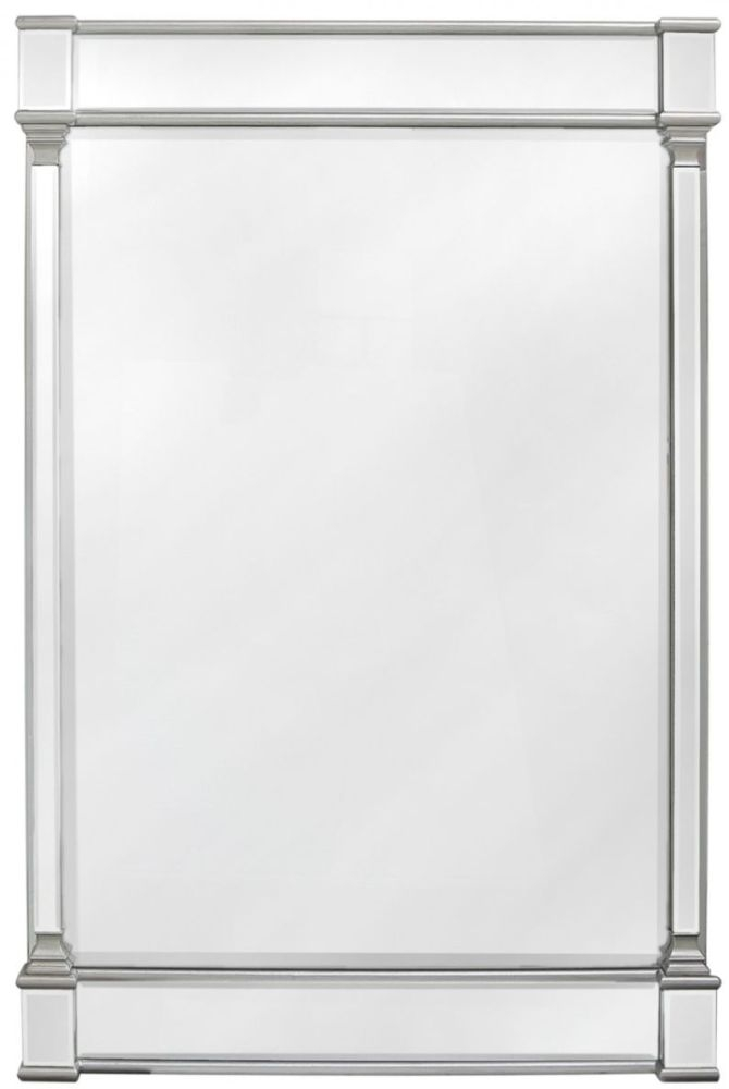 Antrim Silver Rectangular Wall Mirror