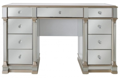 Arlo Champagne Mirrored 9 Drawer Dressing Table