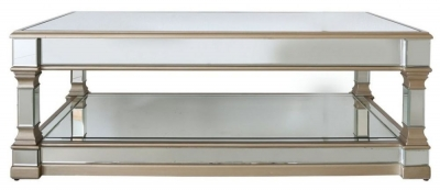 Arlo Champagne Mirrored Coffee Table