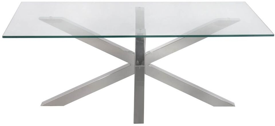 Aston Coffee Table - Glass and Chrome