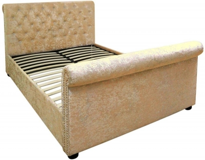 Mesa Gold Velvet 5ft Bed Frame