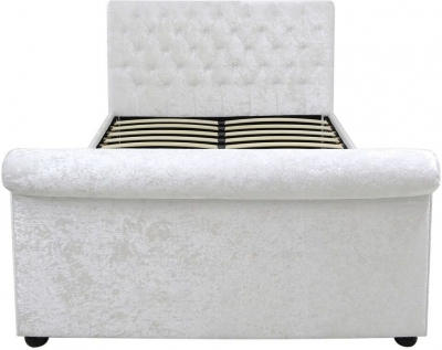 Mesa White Velvet 5ft Bed Frame