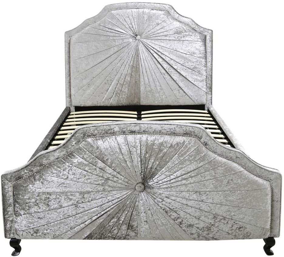 Ancora Grey Velvet 5ft Bed Frame thumbnail