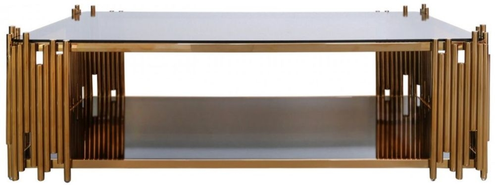 Burgio Rose Gold Coffee Table