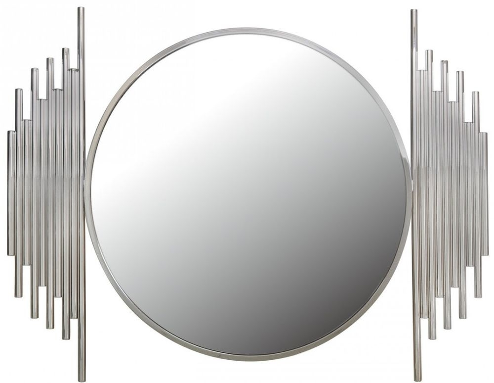 Burgio Polished Steel Metal Wall Mirror