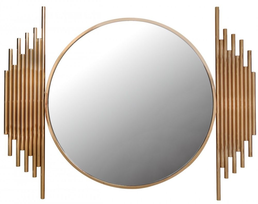 Burgio Rose Gold Metal Wall Mirror