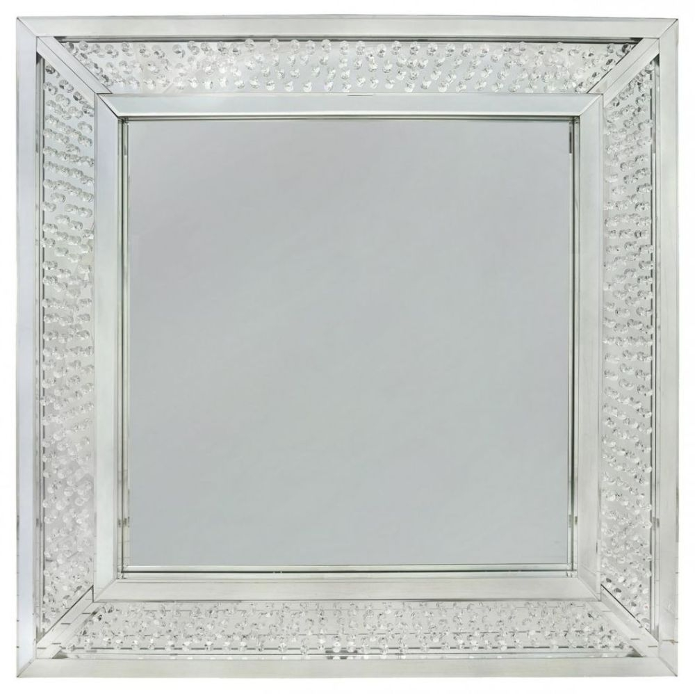 Castro Floating Crystal Wall Mirror - Square