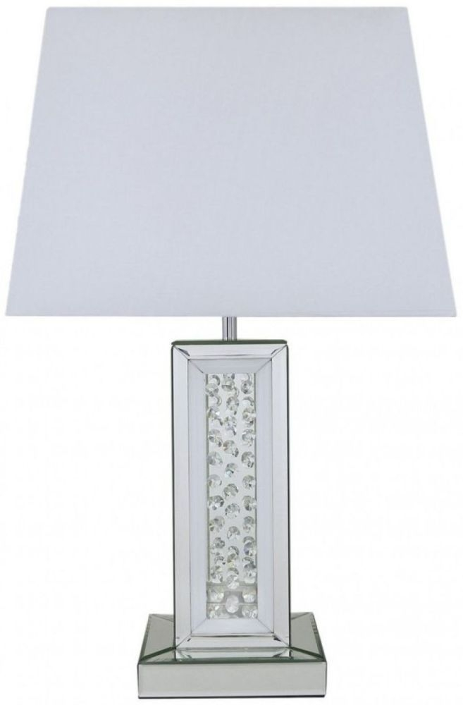 Castro Mirrored Small Pillar Table Lamp