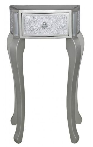 Bradford Silver Telephone Table with Champagne Trim