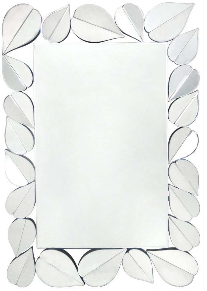 Premium Wall Mirror with Leaf Border (Set of 2)