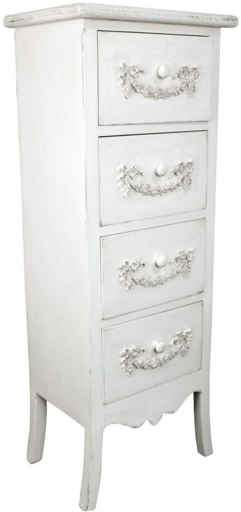 Cirq Ivory Wooden 4 Drawer Chest