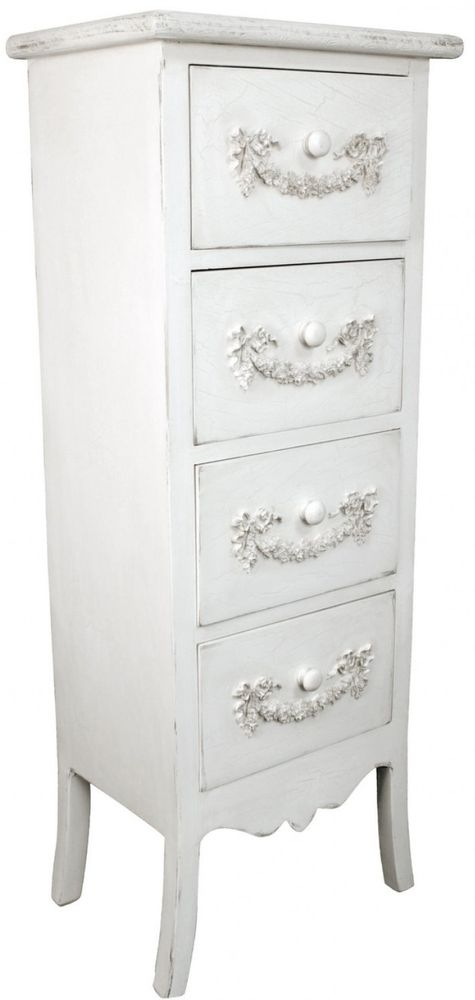 Cirq Ivory Wooden Chest of Drawer - 4 Drawer