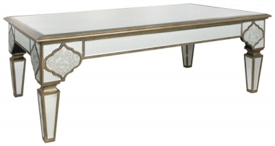 Clearance Morocco Antique Mirrored Coffee Table
