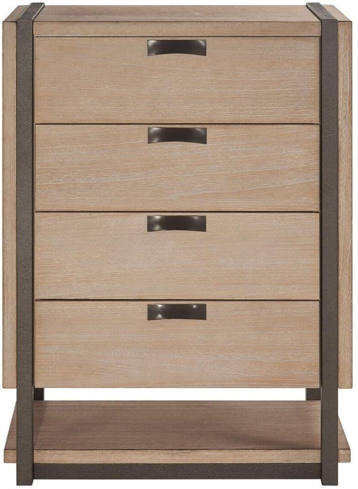 Della Natural Wood 4 Drawer Chest