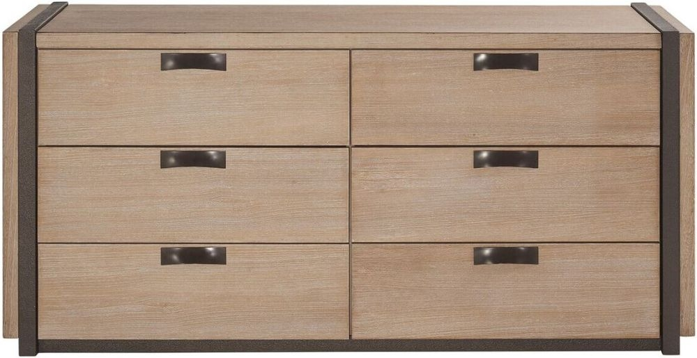 Della Natural Wood 6 Drawer Chest