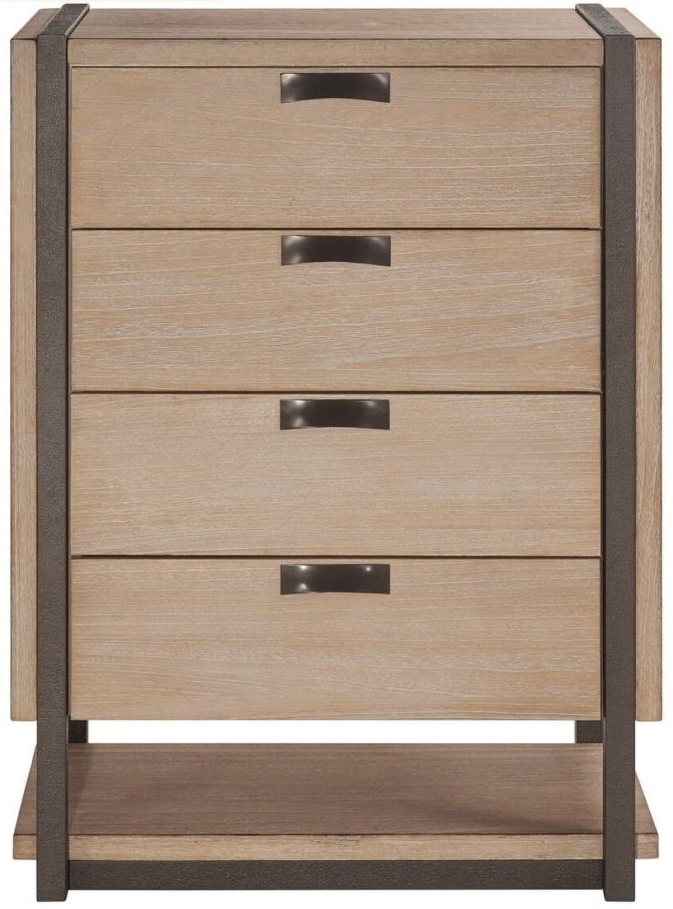 Della Natural Wood Chest of Drawer - 4 Drawer