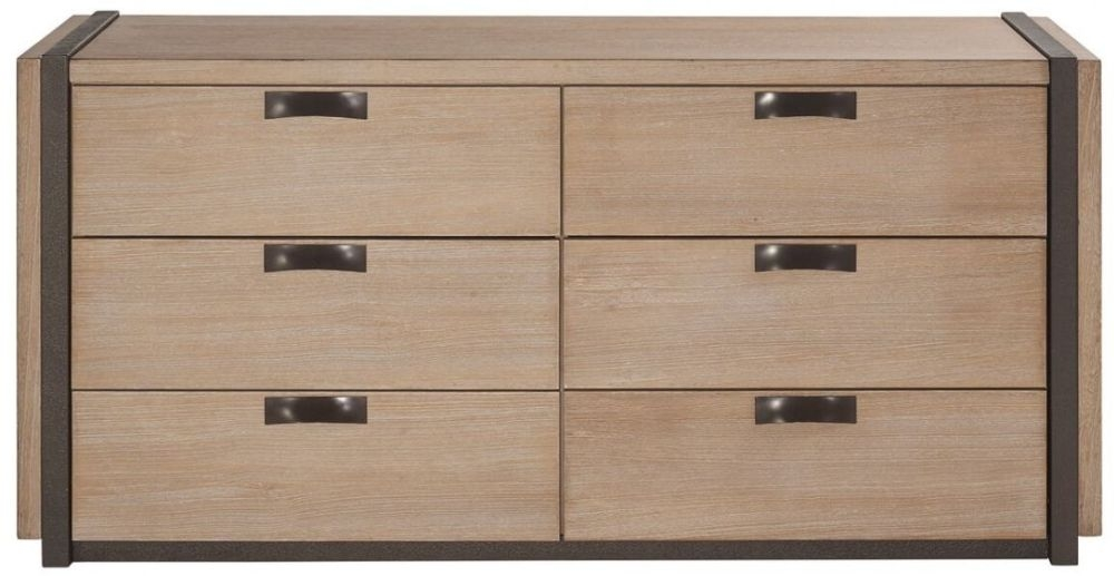 Della Natural Wood Chest of Drawer - 6 Drawer