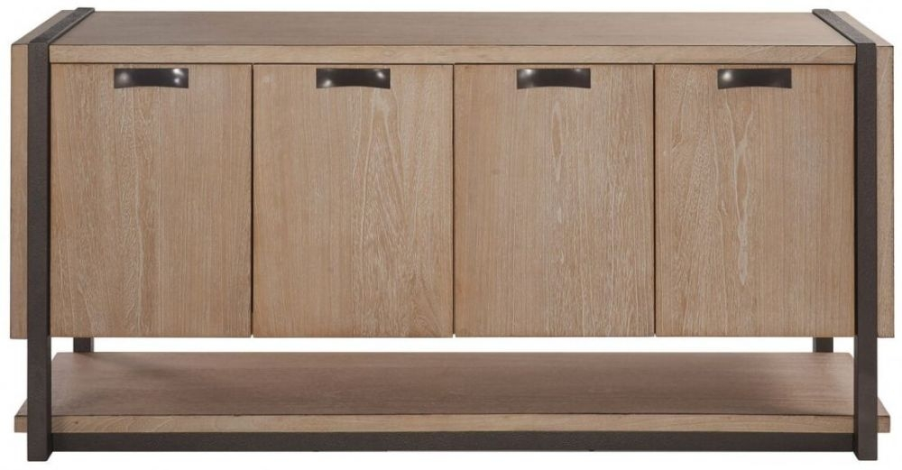 Della Natural Wood Sideboard - 4 Door