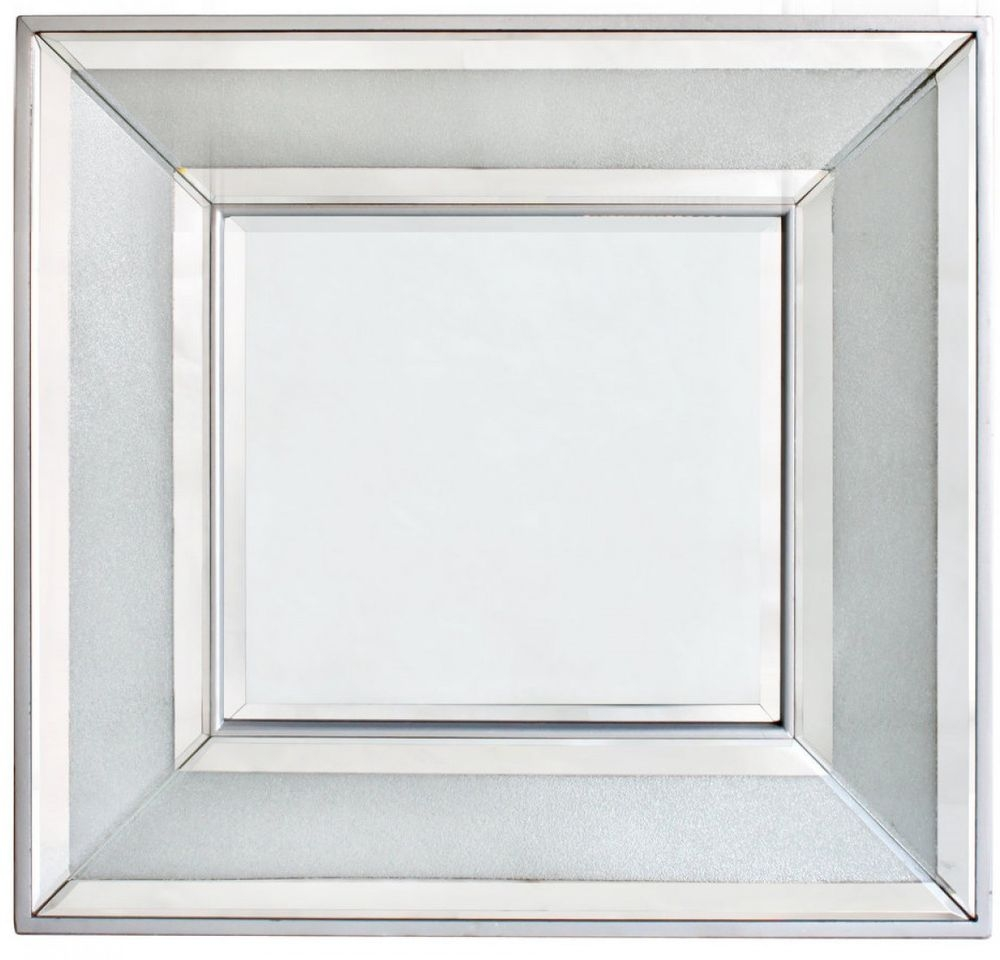 Frosted Diamond Crush Wall Mirror