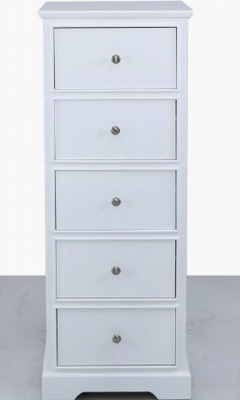 Driffield White Tallboy Chest