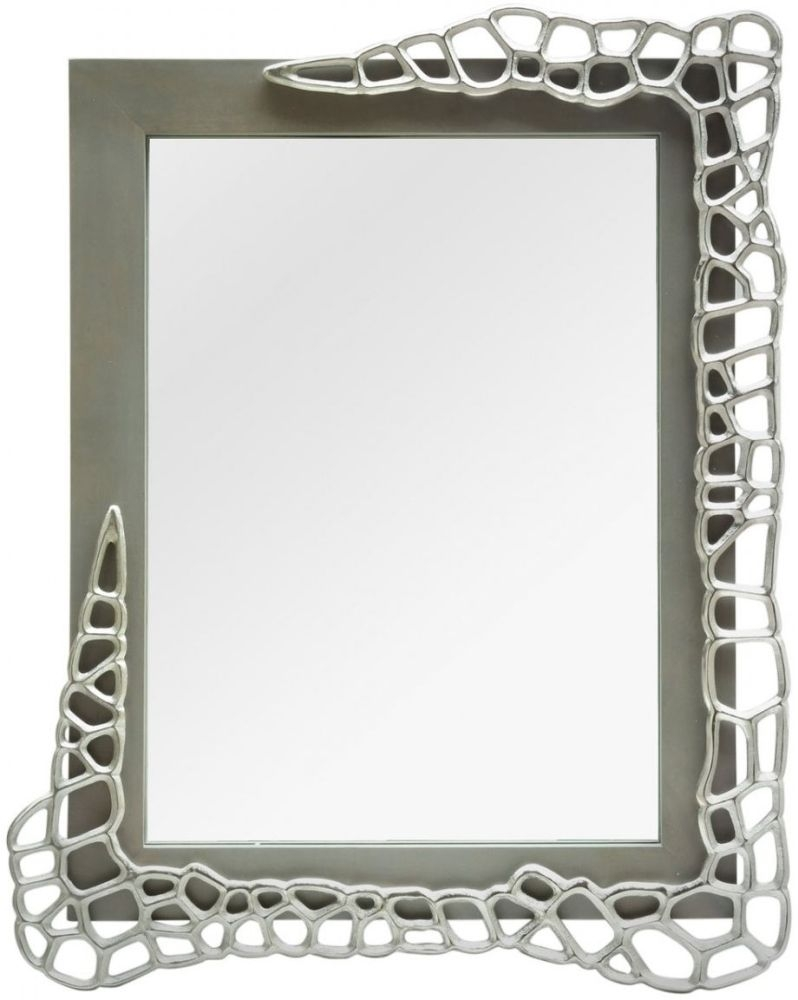 Emmaus Grey Rectangular Wall Mirror - 80cm x 101.5cm