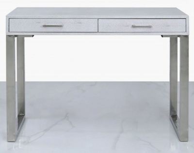 Enna Silver Faux Stingray Leather Console Table