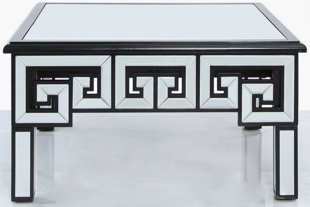 Essen Black Trim Mirrored Coffee Table