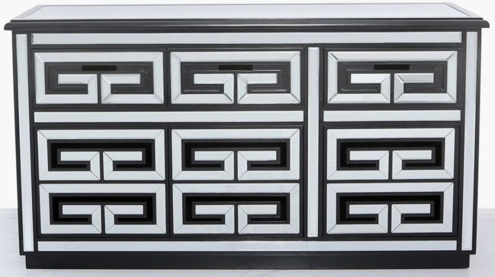 Essen Black Trim Mirrored Sideboard