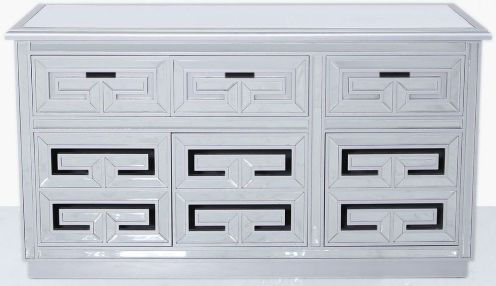 Essen Silver Trim Mirrored Sideboard