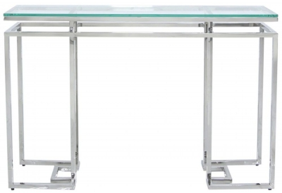 Fairbanks Console Table - Glass and Chrome