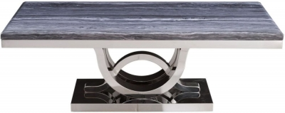 Favara Coffee Table - Marble and Chrome