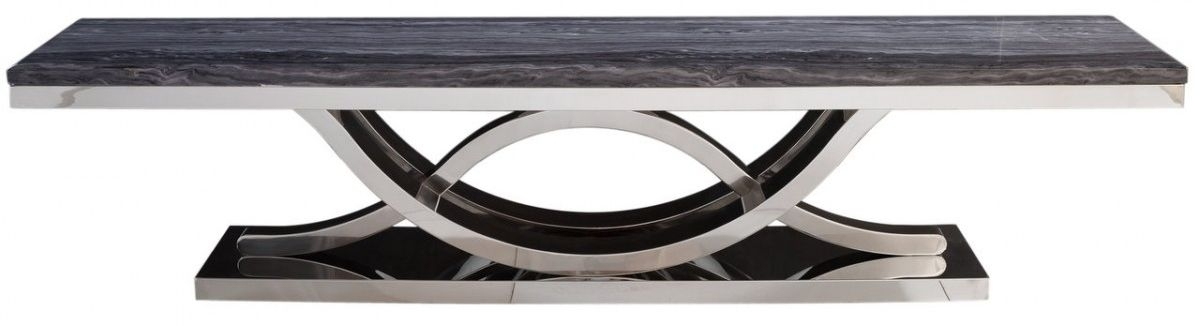 Favara Entertainment Unit - Marble and Chrome